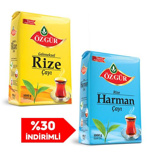 Öz-Gür - 4Kg. Rize + 1Kg. Harman - Kargo Bedava