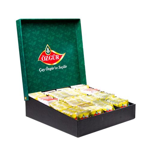 Öz-Gür - Bitki Meyve Poşet Çay Seti - Yeşil Standlı