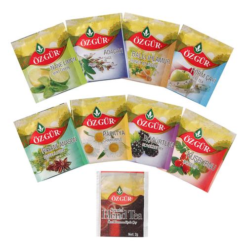 Bitki Meyve Poşet Çay Seti - Yeşil Standlı - Thumbnail