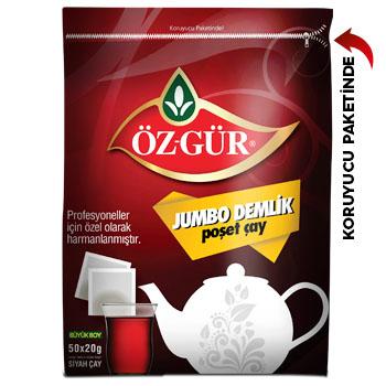 Öz-Gür - Jumbo Demlik Poşet Çay 50 li - 50x20 g